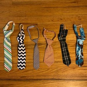 Six baby/toddler ties - new without tags